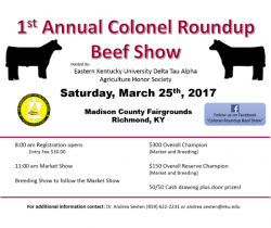 1st Annual Colonel Roundup Beef Show flyer