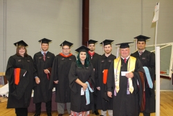 Masters Candidates prepare for commencement ceremony