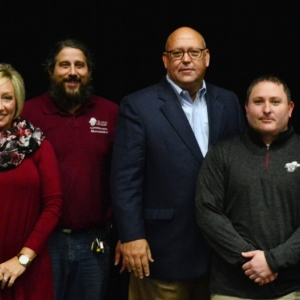 Construction Management faculty with EKU and Richmond officials