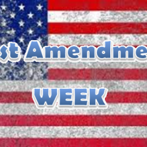 First Amentment Week American flag graphic