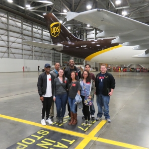 Aviation Students Tour UPS Facilities