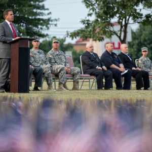 President Benson speaks at 9/11 remembrance ceremony