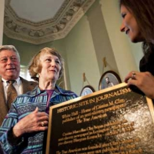 Historic Site plaque is unveiled for installation